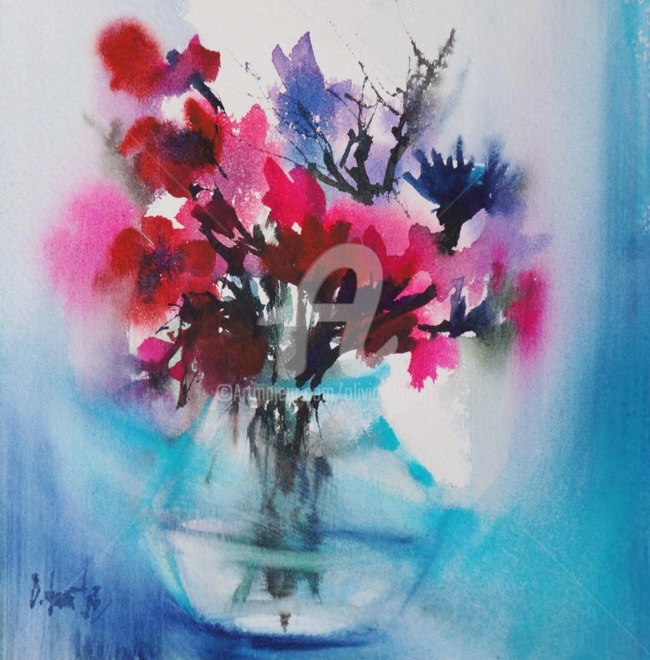 Olivia Quintin - VA1 bouquet de fleurs Le courant d'air